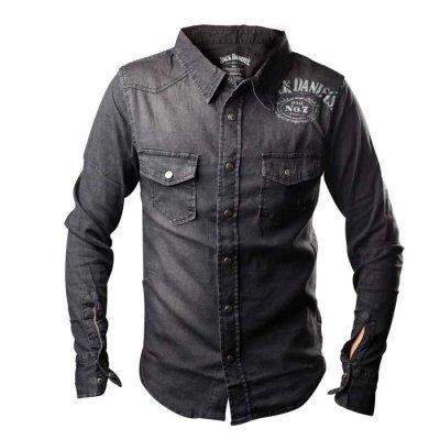 Jack Daniels jeansskjorta (S)