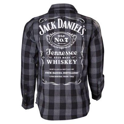 Jack Daniels svart/grå skjorta (S)