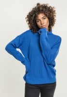 Ladies Oversize Turtleneck Sweater blue