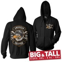 American Chopper - Cigar Eagle Big & Tall Zipped Hoodie 1