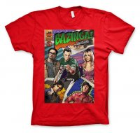 Big Bang Theory - Bazinga Comic Cover T-Shirt röd