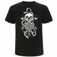 Beard and anchor svart T-shirt