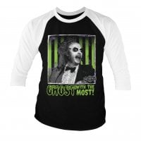 Beetlejuice - Ghost with the most baseball 3/4 tee
