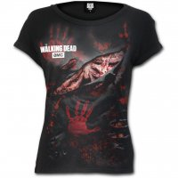 Blood Hand The Walking Dead t-shirt dam