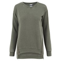 Burnout sweatshirt med zip 4
