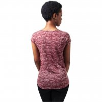 Ladies Burnout Tee burgundy 2