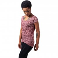 Ladies Burnout Tee burgundy