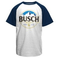 Busch Beer Logo Baseball T-Shirt 1
