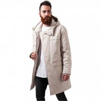 Cotton Peached Canvas Parka sand fram