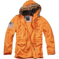 Explorer Vintage Stars & Stripes vinterjacka orange fram