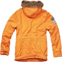 Explorer Vintage Stars & Stripes vinterjacka orange bak