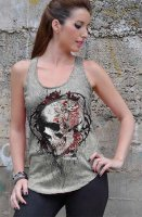 Faded flower skull top