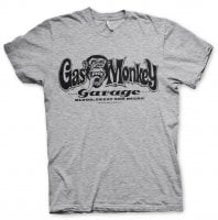 Gas Monkey Garage logo T-shirt heather grey