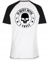 In heavy metal i trust baseball tee