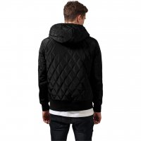 Hooded Diamond Quilt Jacka bak