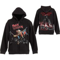 Iron Maiden Hoodie: Scuffed Trooper fram och bak