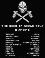 Iron Maiden t-shirt: Book of souls europe tour tryck bak