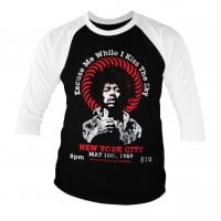 Jimi Hendrix - Live In New York Baseball 3/4 Longsleeve 1