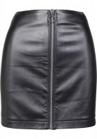 Ladies Faux Leather Zip Skirt fram
