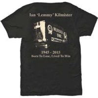 Lemmy t-shirt: Lived to win bak