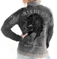 Lord lagartija Alchemy zip sweat bak