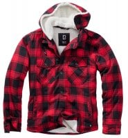 Lumberjacket hooded röd/svart 1