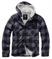 Lumberjacket hooded svart/grå 1