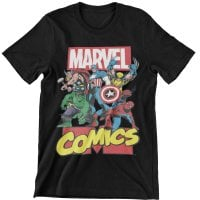 Marvel Comics Heroes Barn T-Shirt 1