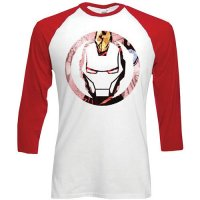 Marvel longsleeve herr: Iron Man Knock out circle