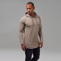 Melange shaped hoody sand
