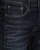 Mörkblå regular fit jeans herr 4