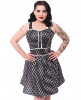 Nina Dress black polka