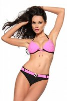 Svartvit push-up bikini fram 3