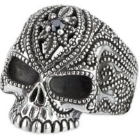 Tattoo Skull 925 silverring