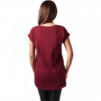 Ladies Long Back Shaped Slub Tee 7