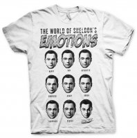 Sheldons Emotions vit t-Shirt
