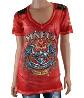 Sinful Draw v-neck t-shirt
