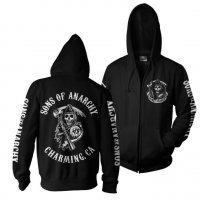 SOA Full Backpatch ziphoodie fram och bak