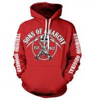 Sons Of Anarchy Chain Logo röd hoodie