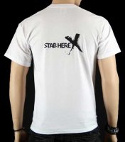 stab here t-shirt