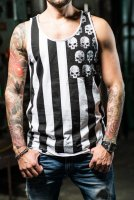 Stripes and skulls herrlinne fram