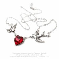 Halsband swallow heart design england