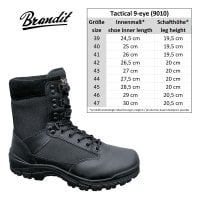 Tactical Boots 9 öglor 2