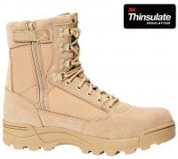 Tactical boots zipper beige
