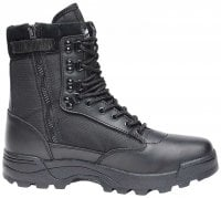 Tactical boots zipper svart