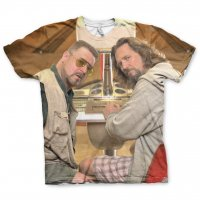 The Big Lebowski Allover Printed T-Shirt fram