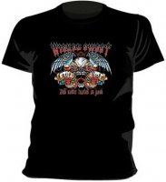 Wicked Sweet Skull svart t-shirt