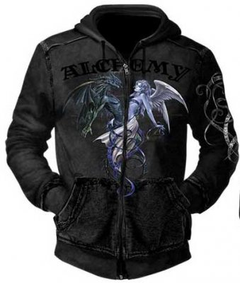 Alchemy Cheminal Attraction zip hoodie
