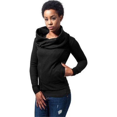 Ladies asymetric zip jacket