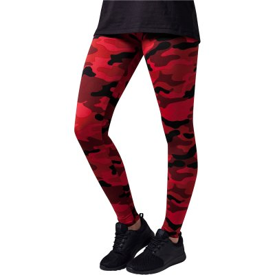 Camo leggings röd
